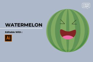 Emoji - Fruit Watermelon #45 Graphic Icons By listulabs