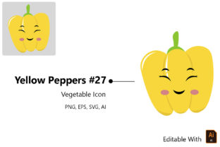 Print on Demand: Emoji - Vegetable Yellow Peppers Graphic Icons By bixboxstudio