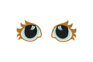 Print on Demand: Eyes for Dolls, Toys, Artisanal No1 Toys & Games Embroidery Design By Dizzy Embroidery Designs