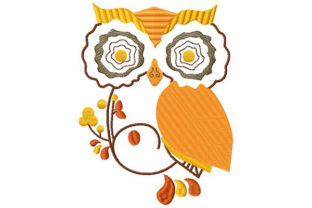 Fashionable Owl Sketch Animals Embroidery Design By Dizzy Embroidery Designs