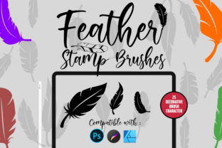 Feather | Stamp Brushes Graphic Brushes By Gumacreative