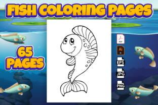 Print on Demand: Fish Coloring Pages for Kids - Kdp Graphic Coloring Pages & Books Kids By Kristy Coloring