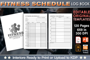 Print on Demand: Fitness Schedule Log Book, Editable Graphic KDP Interiors By okdecoconcept