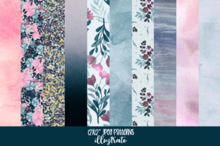 Print on Demand: Floral Patterns and Textures - Navy Graphic Patterns By illuztrate