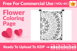 Flower Coloring Page KDP Interior Vol 44 Graphic Coloring Pages & Books Adults By Md Abu Saeid