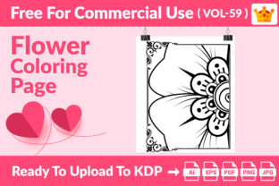 Flower Coloring Page KDP Interior Vol 59 Graphic Coloring Pages & Books Kids By Creative king