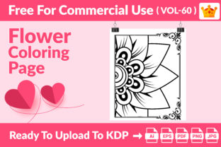 Flower Coloring Page KDP Interior Vol 60 Graphic Coloring Pages & Books Kids By Creative king