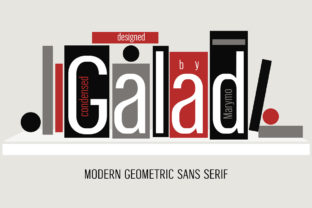 Print on Demand: Galad Sans Serif Font By Marymo