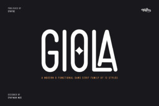 Print on Demand: Giola Sans Serif Font By syafbe