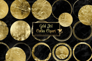 Print on Demand: Gold Foil Circles Clipart Graphic Illustrations By Digital Curio