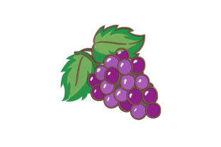 Grapes Food & Dining Embroidery Design By DigitEMB