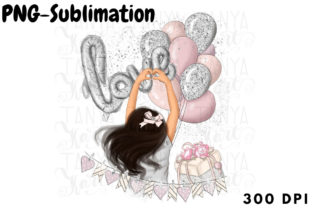 Hand Drawn Love Design for Sublimation Graphic Crafts By Tanya Kart