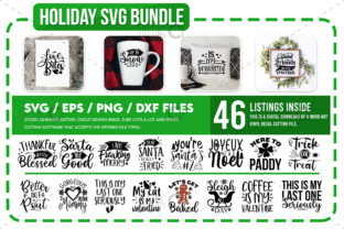 Print on Demand: Holiday SVG Bundle, Funny SVG Bundle Graphic Crafts By PrintableSvg
