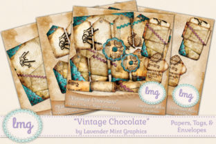 Junk Journal Vintage Papers and Tags Graphic Crafts By Lavender Mint Graphics