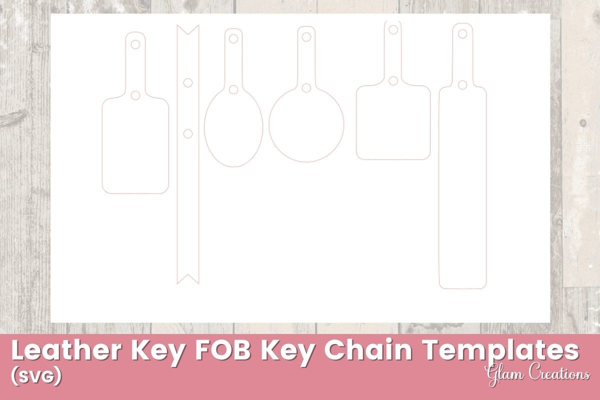 Keychain Leather Template SVG File