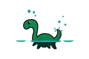 Print on Demand: Little Loch Ness Baby Animals Embroidery Design By Dizzy Embroidery Designs