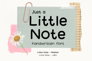 Print on Demand: Little Note Script & Handwritten Font By Jyllyco
