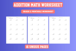 Print on Demand: Math Worksheet Addition Grade 2 KDP Graphic 2nd grade By Day Dreamer