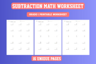 Print on Demand: Math Worksheet Subtraction Grade 1 KDP Graphic 1st grade By Day Dreamer