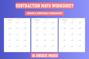 Print on Demand: Math Worksheet Subtraction Grade 2 KDP Graphic 2nd grade By Day Dreamer