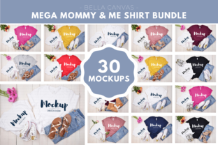 Mommy and Me Bella Canvas Mockup Bundle Graphic Product Mockups By MyMockupStudio