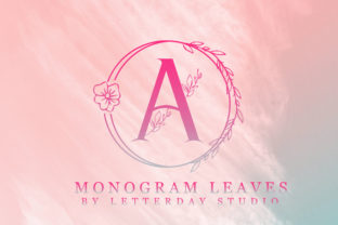 Print on Demand: Monogram Leaves Decorative Font By Letterday Studio