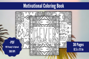 Motivational Coloring Book for Adults Graphic KDP Interiors By KDPstudios