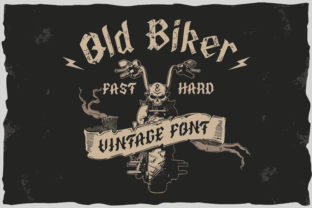 Print on Demand: Old Biker Blackletter Font By Fractal font factory