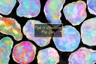 Print on Demand: Opal and Moonstone Clipart Graphic Illustrations By Digital Curio