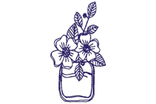 Outlined Flowers Outline Flowers Embroidery Design By designsbymira