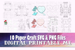 Print on Demand: Paper Crafts for Kids, SVG PNG, 10 Image Graphic Teaching Materials By DigitalPrintableMe