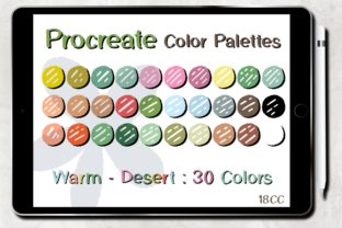 Print on Demand: Procreate Color Palettes | Warm - Desert Graphic Add-ons By 18CC