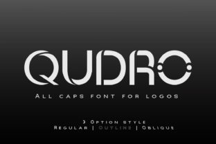 Print on Demand: Qudro Display Font By Creative17studio