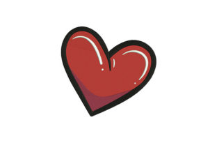 Red Heart Love Valentine's Day Embroidery Design By DigitEMB