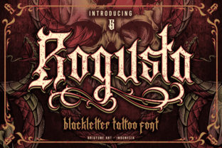 Print on Demand: Rogusta Blackletter Font By brightonexart