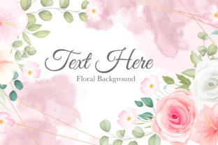 Romantic Soft Spring Floral Background Graphic Print Templates By dinomikael01