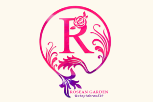 Print on Demand: Rosean Garden Monogram Decorative Font By utopiabrand19