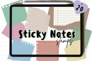 Sticky Notes Brush Stamps Graphic Brushes By JumpeedaCrafts
