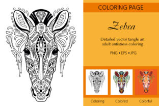 Tangled Head of Zebra Coloring for Adult Graphic Coloring Pages & Books Adults By Alinart
