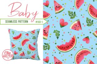 Print on Demand: Watermelon Seamless Pattern Sweet Summer Graphic Patterns By clipArtem