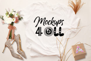 Wedding Template, White T-shirt Mockup Graphic Product Mockups By Art Studio