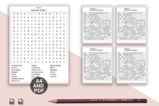 WordSearch Puzzle Book with Solution KDP Graphic KDP Interiors By DigitalMGoods