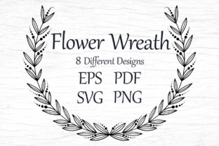 Wreaths Template with Flowers, SVG, EPS Graphic Print Templates By FolkStyleStudio