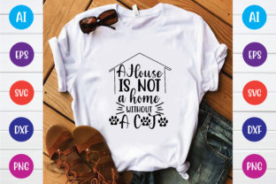 A House is  Not a Home  Without a Cat Graphic Print Templates By Printable Store
