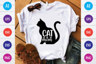 Cat Mom Graphic Print Templates By Printable Store