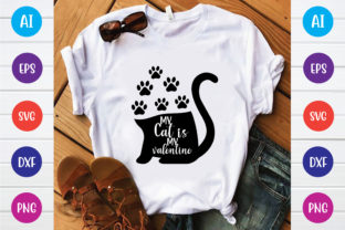 My Cat is My Valentine Graphic Print Templates By Printable Store