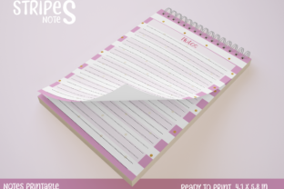 Note Paper Printable 4 Pink Graphic Print Templates By StardDesign