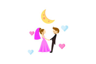 Wedding Icon Cute Moon Graphic Icons By workiestudio