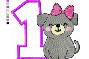 1st Birthday for Girl Birthdays Embroidery Design By EmbDesigns