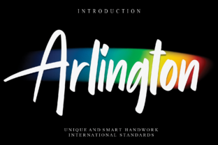 Print on Demand: Arlington Script & Handwritten Font By Misterletter.co